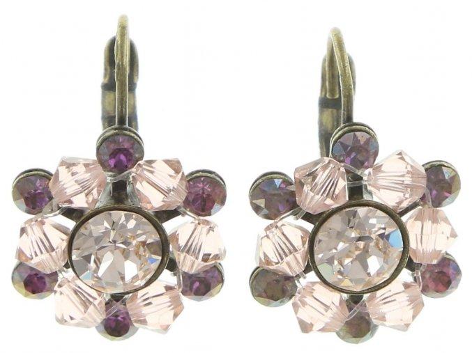 Dutchess - beige/pink Náušnice > Klasickézapínání - 5450543167800