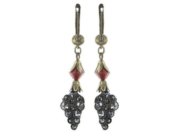 Queen of Elves - černá/červená Náušnice > Francouzské zapínaní - 5450543168708