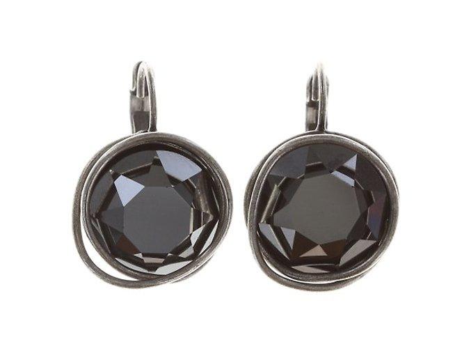 Sparkle Twist - černá Náušnice > Klasickézapínání - 5450543169491