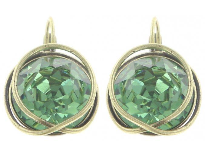 Sparkle Twist - zelená Náušnice > Klasickézapínání - 5450543169576
