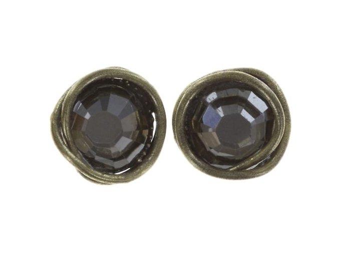 Sparkle Twist - šedivá Náušnice > Puzety - 5450543250687
