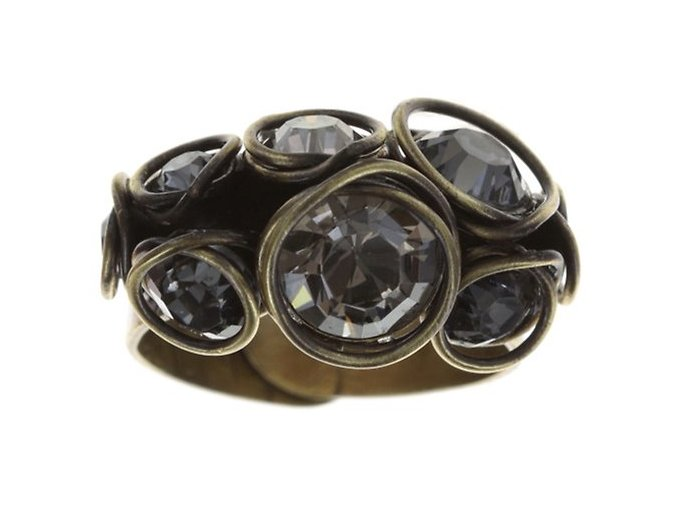 Sparkle Twist - šedivá Prsteny - 5450543250717