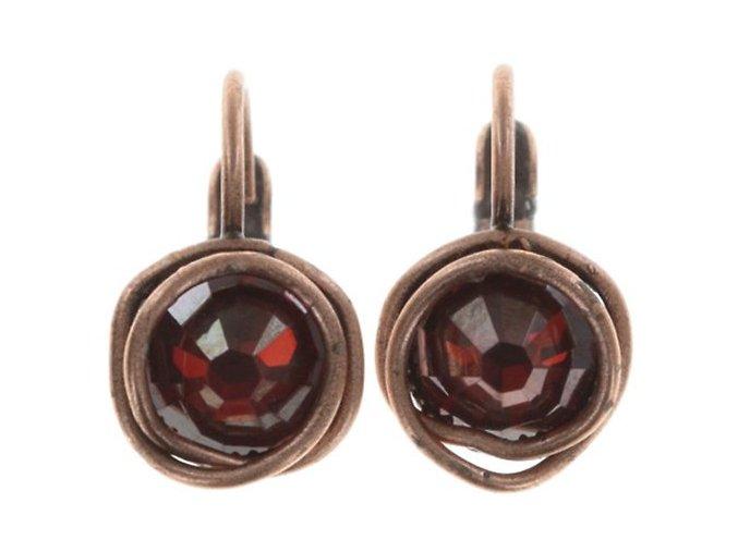 Sparkle Twist - červená/oranžová Náušnice > Klasickézapínání - 5450543251516