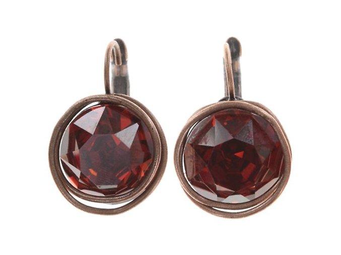 Sparkle Twist - červená/oranžová Náušnice > Klasickézapínání - 5450543251578