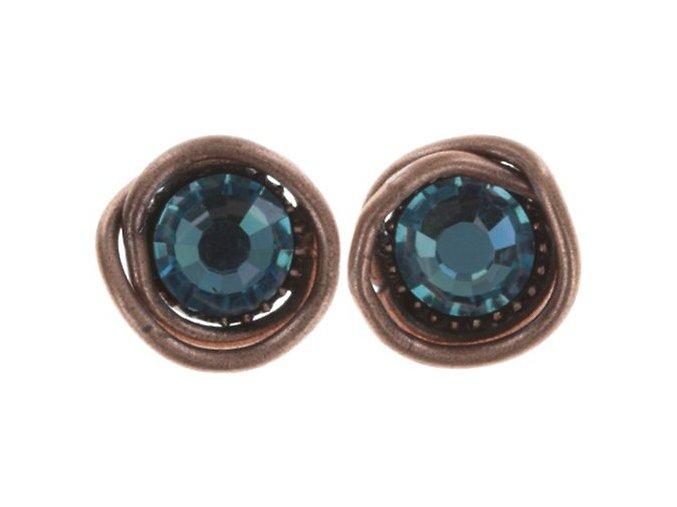 Sparkle Twist - modrá Náušnice > Puzety - 5450543251677