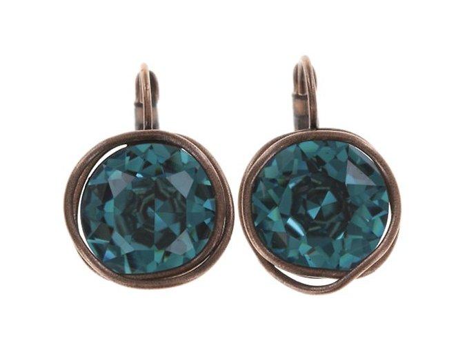 Sparkle Twist - modrá Náušnice > Klasickézapínání - 5450543251714