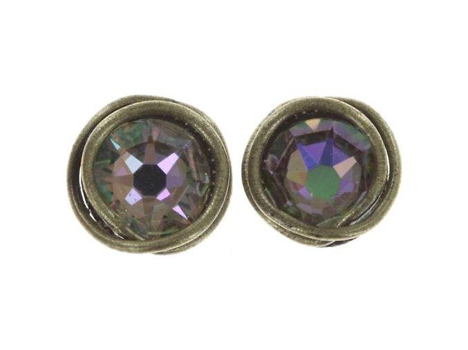Sparkle Twist - fialová Náušnice > Puzety - 5450543251943