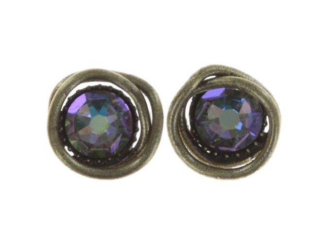 Sparkle Twist - fialová Náušnice > Puzety - 5450543251950