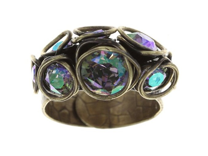 Sparkle Twist - fialová Prsteny - 5450543251974