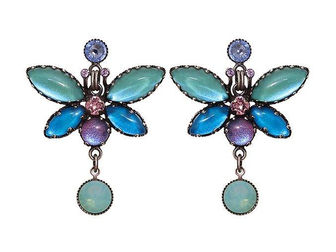 Fly Butterfly - multi/více barev Náušnice > Puzety - 5450543260242