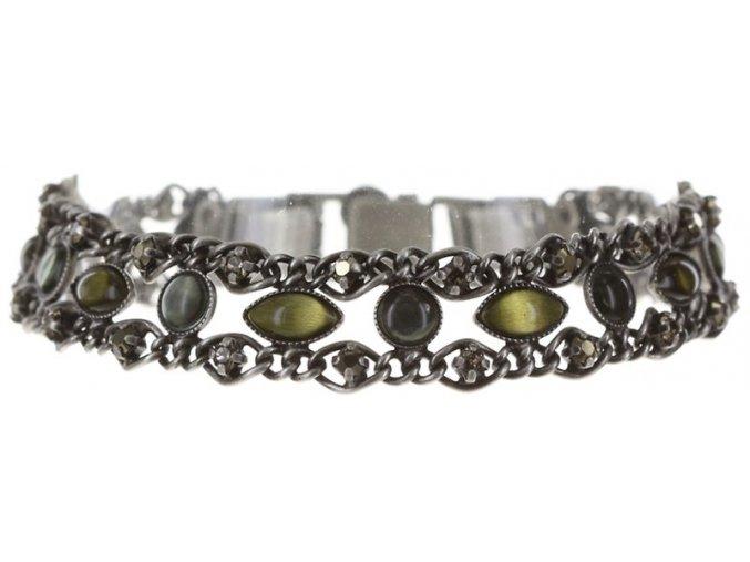 Dangling Navette - zelená/šedivá Náramky > Klasické - 5450543297323