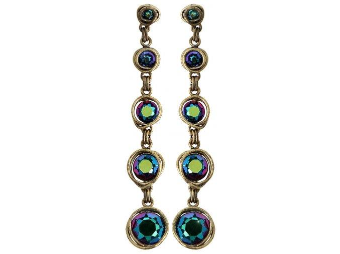 Sparkle Twist - modrá/zelená Náušnice > Puzety - 5450543334165