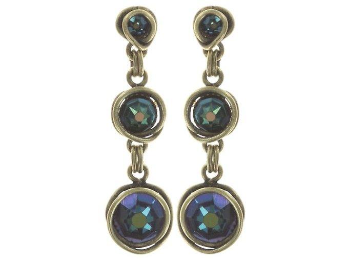 Sparkle Twist - modrá/zelená Náušnice > Puzety - 5450543334172
