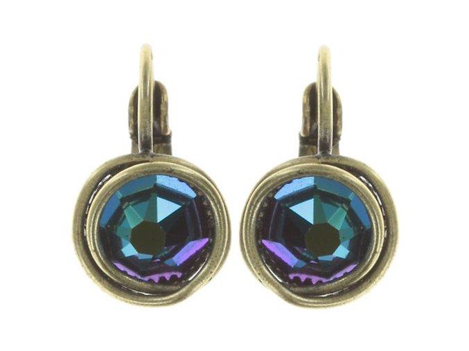 Sparkle Twist - modrá/zelená Náušnice > Klasickézapínání - 5450543334196