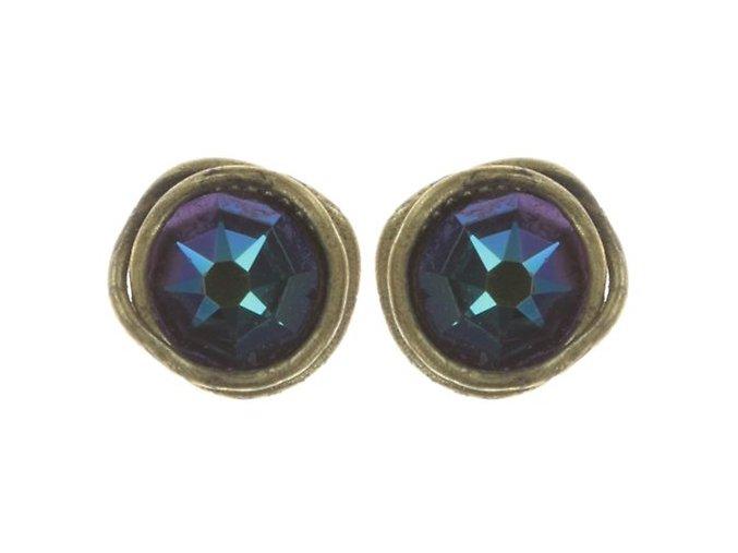 Sparkle Twist - modrá/zelená Náušnice > Puzety - 5450543334202