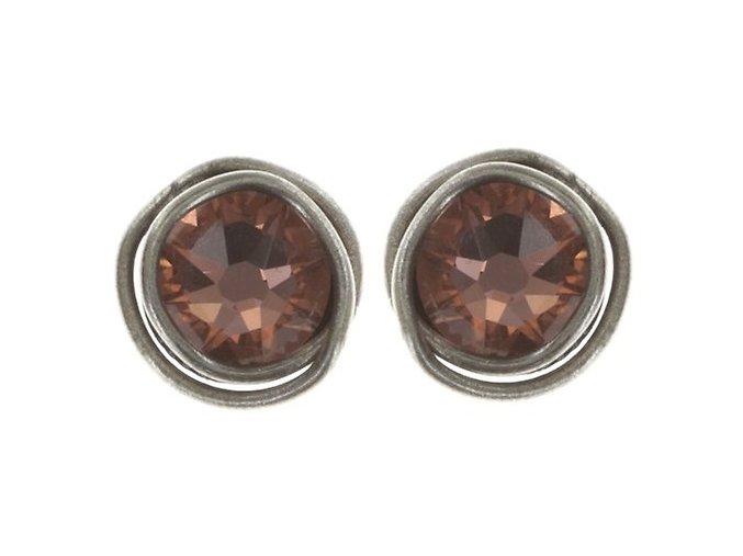 Sparkle Twist - růžová Náušnice > Puzety - 5450543340210
