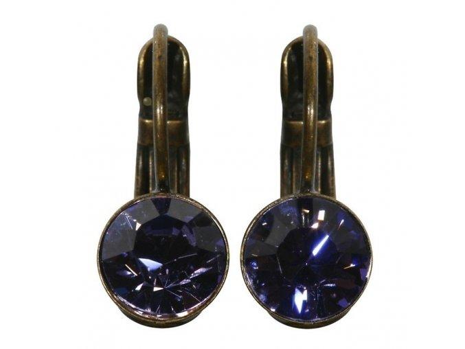 Black Jack - fialová Náušnice > Klasickézapínání - 5450527110532