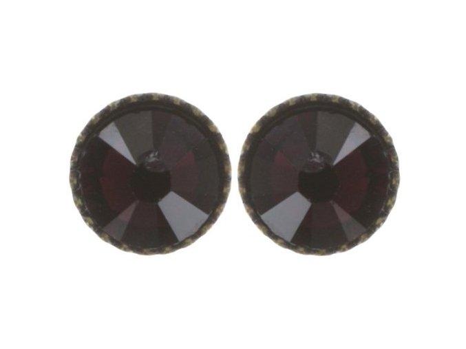 Black Jack - červená Náušnice > Puzety - 5450527601023