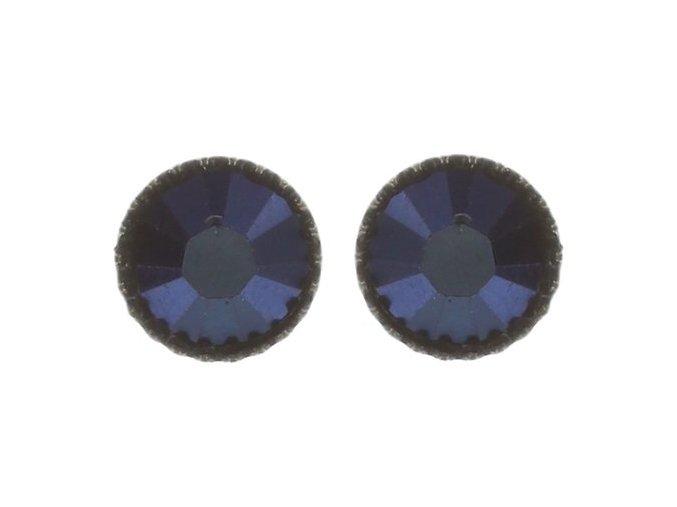 Black Jack - modrá Náušnice > Puzety - 5450527601177