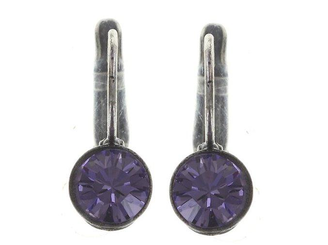 Black Jack - fialová Náušnice > Klasickézapínání - 5450527612432