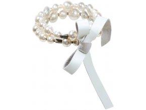 Tie The Pearl - bílá Náramky > Elastické - 5450527898027