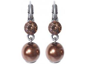 Tie The Pearl - hnědá Náušnice > Klasickézapínání - 5450527955508