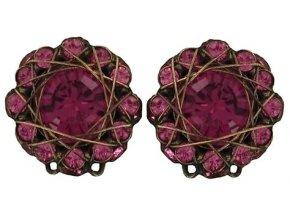 70´s Circles - růžová Náušnice > Klipsy - 5450527963275