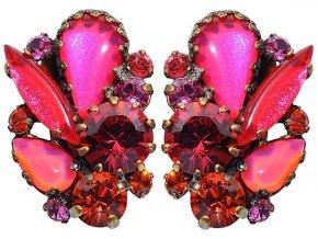 Twisted Flower - červená Náušnice > Klipsy - 5450527974271