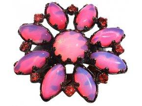 Twisted Flower - červená Prsteny - 5450527976909