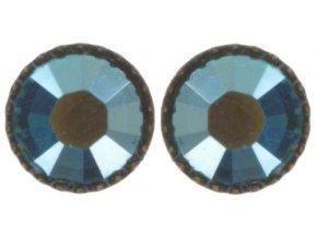Black Jack - modrá/zelená Náušnice > Puzety - 5450527980791