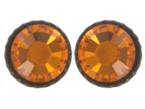 Black Jack - oranžová Náušnice > Puzety - 5450527980869