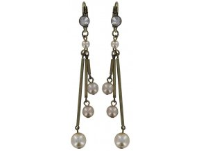 Pearls and Tubes - béžová Náušnice > Klasickézapínání - 5450527986809
