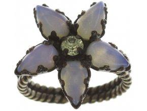 Twisted Flower - bílá Prsteny - 5450527992190