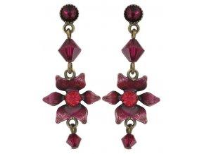 Mille Fleurs - červená Náušnice > Puzety - 5450543035796