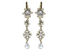 Mille Fleurs - bílá Náušnice > Klasickézapínání - 5450543035871