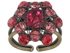 Bended Lights - červená Prsteny - 5450543040905