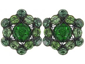 Bended Lights - zelená Náušnice > Puzety - 5450543041070