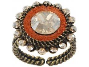 Tribal - hnědá/oranžová Prsteny - 5450543042428