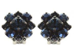 Carre - modrá Náušnice > Klipsy - 5450543073309