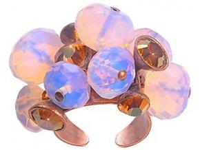 Pink Teardrops Falling - růžová Prsteny - 5450543078182