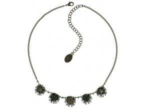 Chrysanthemum - modrá/zelená Náhrdelníky - 5450543078434