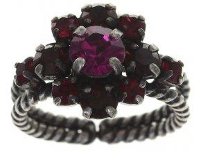 Carre - červená Prsteny - 5450543081403