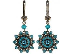 Maharani - modrá Náušnice > Francouzské zapínaní - 5450543085128