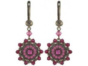 Maharani - růžová Náušnice > Francouzské zapínaní - 5450543085173
