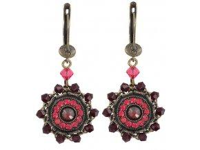 Maharani - červená Náušnice > Francouzské zapínaní - 5450543085180