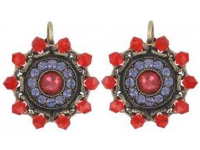 Maharani - červená/fialová Náušnice > Klasickézapínání - 5450543085289