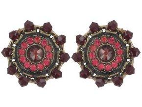 Maharani - červená Náušnice > Puzety - 5450543085319