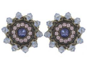 Maharani - fialová Náušnice > Puzety - 5450543085333