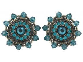 Maharani - modrá Náušnice > Puzety - 5450543085364