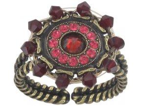 Maharani - červená Prsteny - 5450543085418